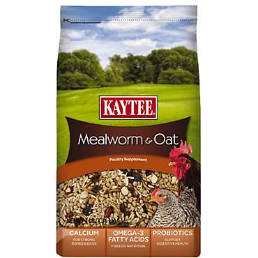 Kaytee Mealworms and Oats Poultry Supplement