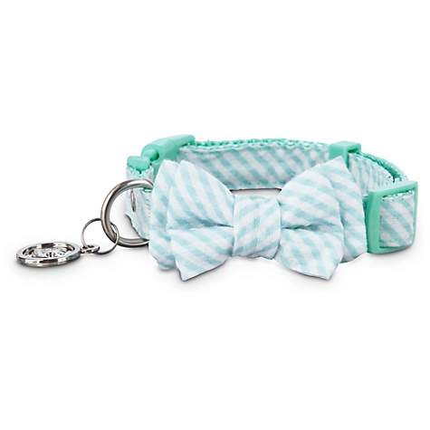 Bond & Co. Teal Striped Puppy Collar