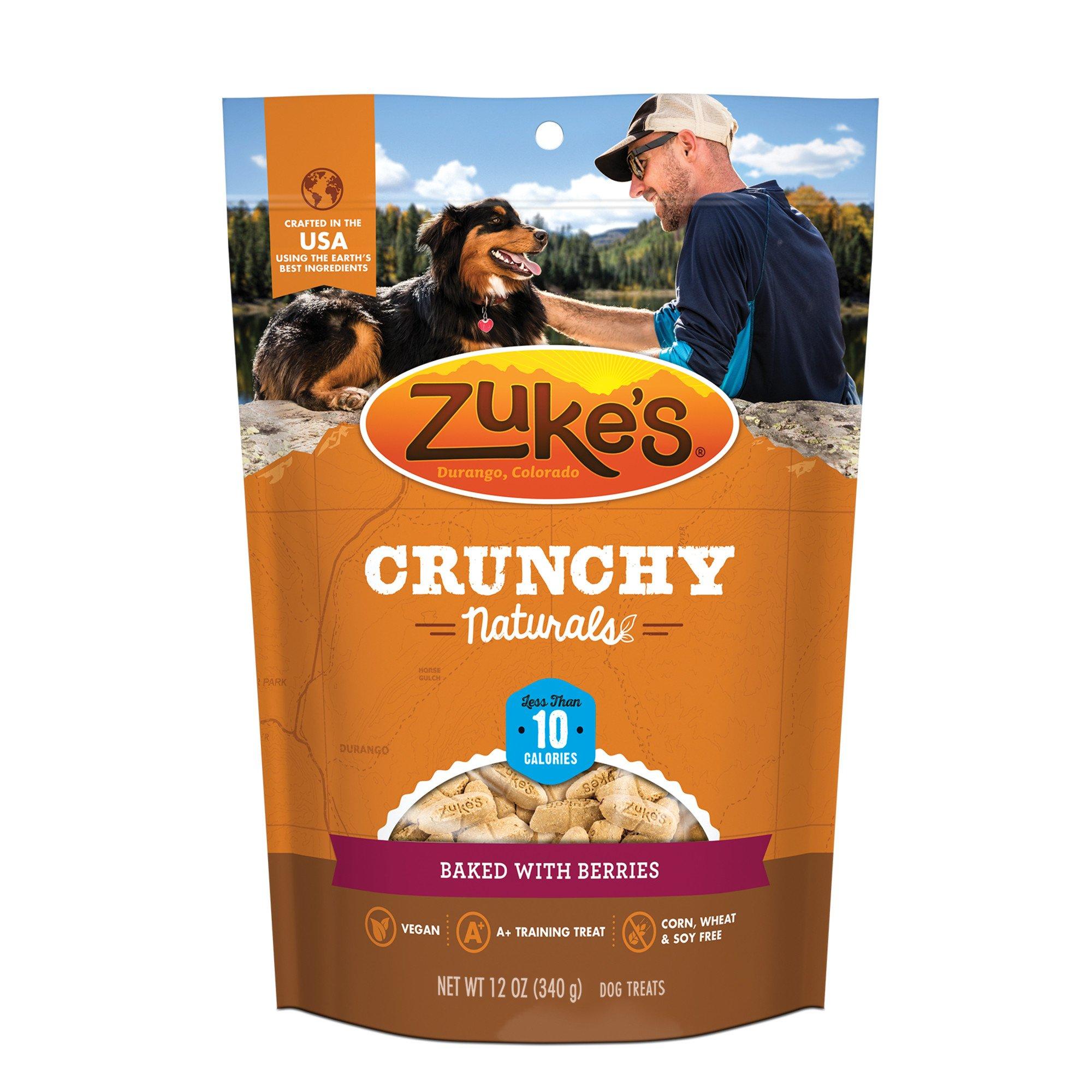Zuke's Crunchy Naturals 10s Baked With Berries Dog Treats, 12 oz., Medium