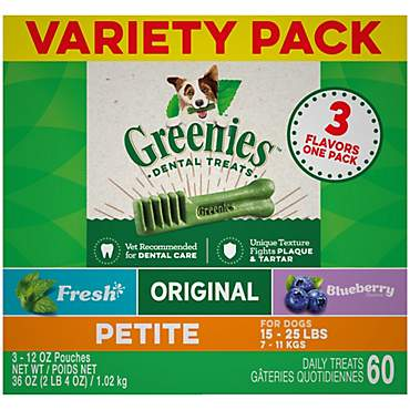 Greenies 3-Flavor Variety Pack Petite Dog Dental Chews
