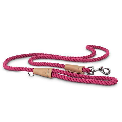 Bond & Co. Buff and Pink Rope Dog Leash