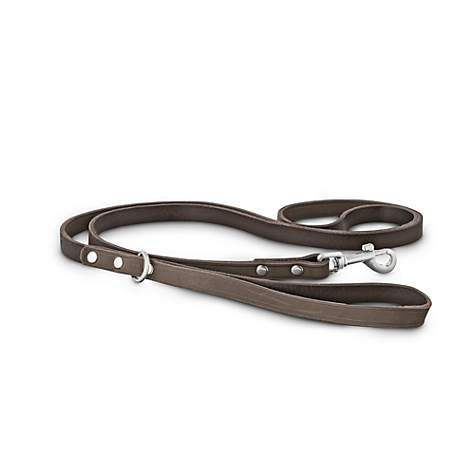 Bond & Co. Gray Suede Leather Small Dog Leash
