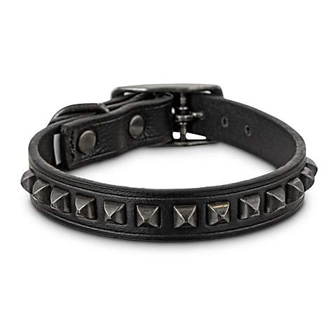 Bond & Co. Studded Black Leather Dog Collar