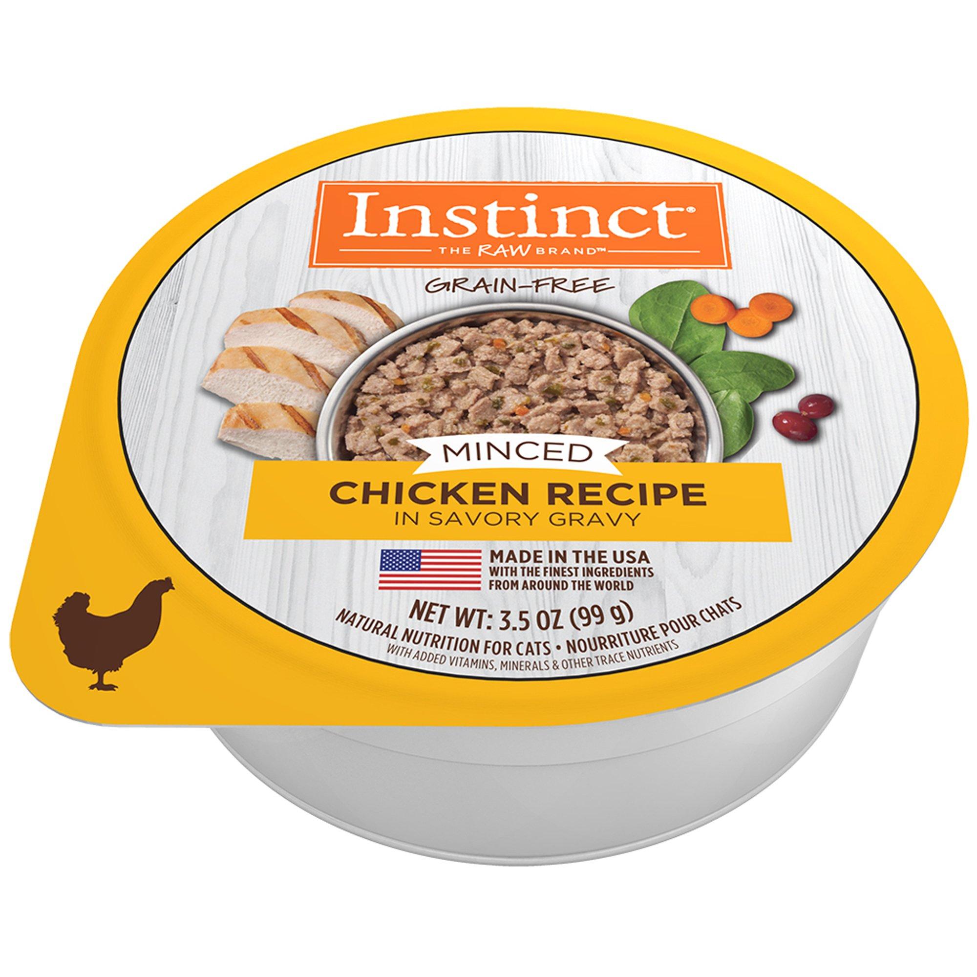 Instinct Grain Free Minced Natural Wet Cat Food