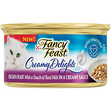 Purina Fancy Feast Creamy Delights Chicken Feast with a Touch of Real Milk in a Creamy Sauce Adult Wet Cat Food
