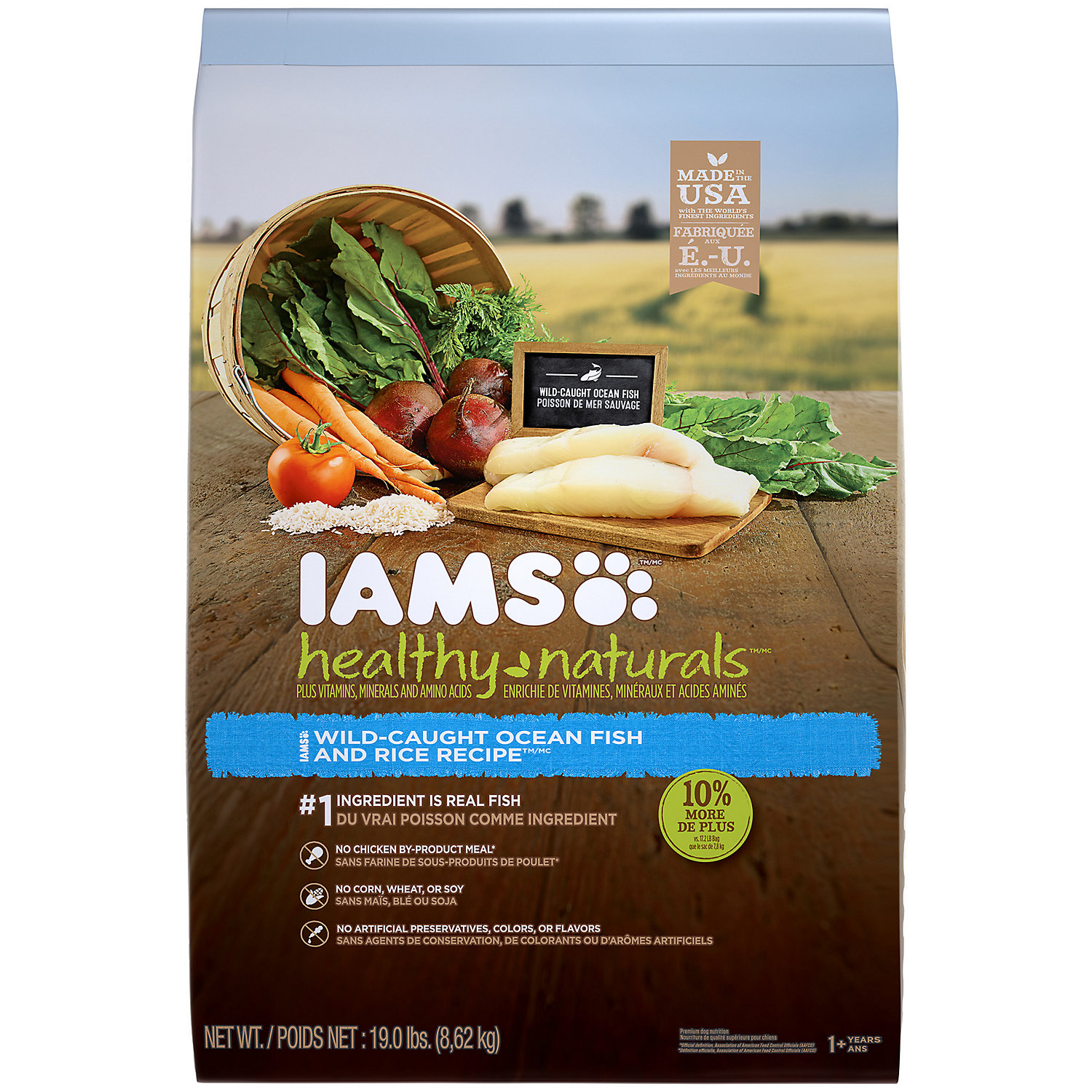 Iams Healthy Naturals Ocean Fish Rice Barley Adult Dog Food