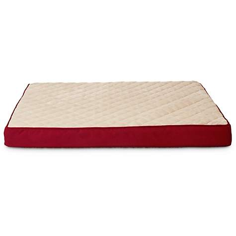 Doctors Foster + Smith Orthopedic Lounger Dog Bed in Red