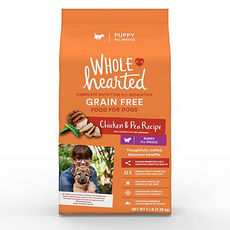 Wholehearted Grain Free Chicken And Pea Recipe Dry Puppy Food Petco