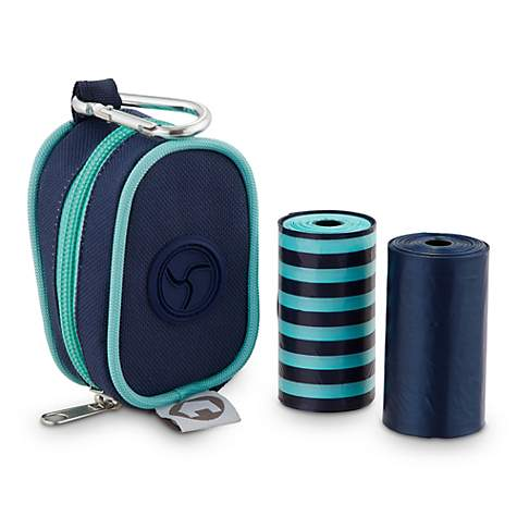 Cabana Bay Navy Fabric Dog Waste Bag Dispenser with Refills
