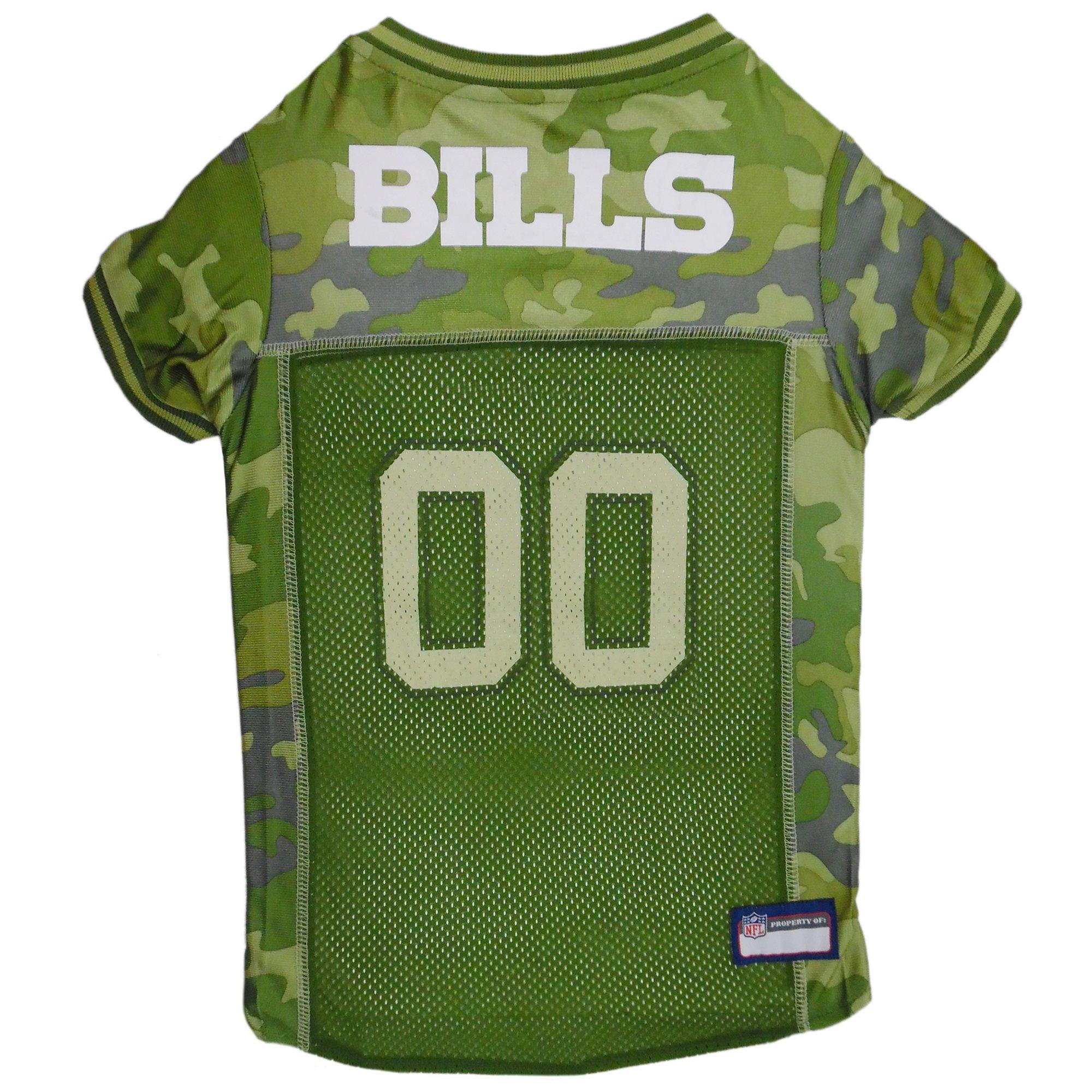 Pets First Buffalo Bills Camo Jersey, X