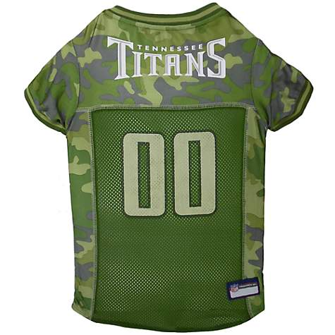 arrives dfbe3 80a19 Pets First Tennessee Titans Camo Jersey, Medium
