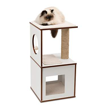 Vesper Small V-box White for Cats