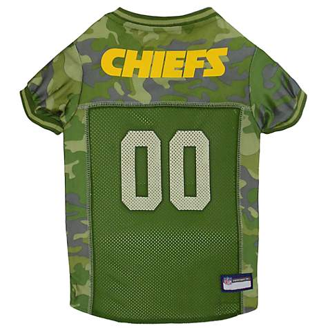new product 9d626 467e3 Pets First Kansas City Chiefs Camo Jersey, X-Small