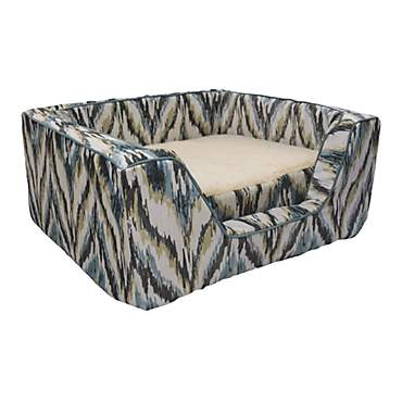Snoozer Premium Micro Suede Square Tempest Spring with Memory Foam Dog Bed
