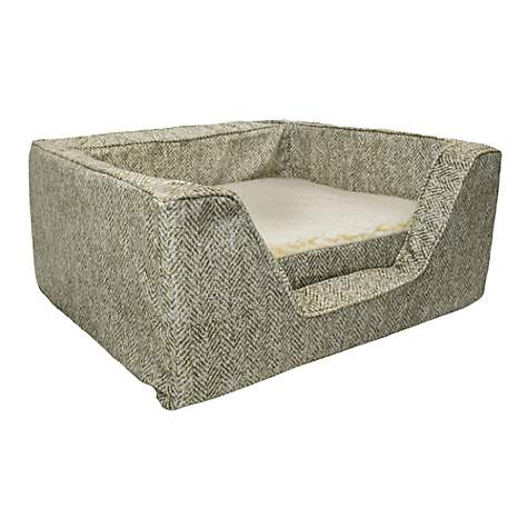 Snoozer Premium Micro Suede Square Palmer Citron with Memory Foam Dog Bed
