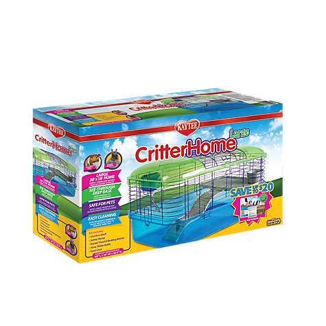 Kaytee Critterhome Deluxe Habitat for Guinea Pigs and Rabbits