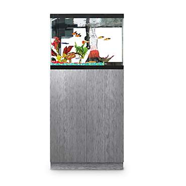 Imagitarium Brushed Steel Look Fish Tank Stand, Up to 20 Gal.