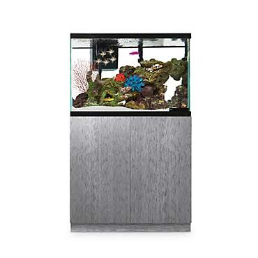 Imagitarium Brushed Steel Look Fish Tank Stand, Up to 40 Gal.