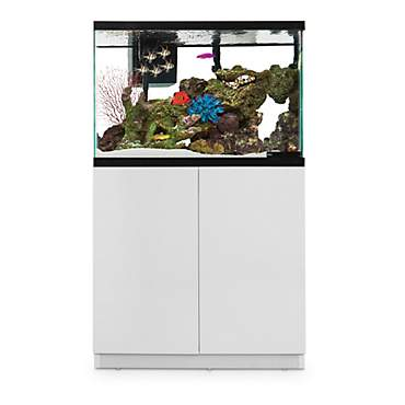 Merveilleux Imagitarium White Gloss Fish Tank Stand, Up To 40 Gal.
