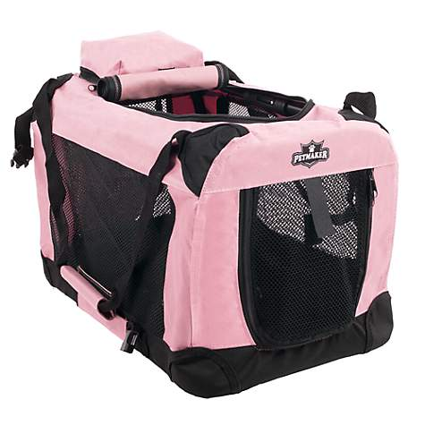 PETMAKER Portable Soft Sided Pet Crate-Pink