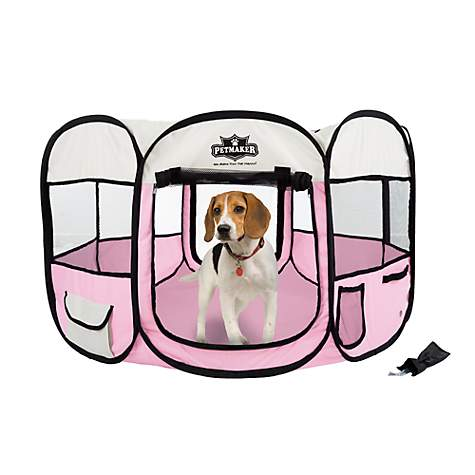 Petmaker Portable Pop Up Pet Play Pen Pink Petco