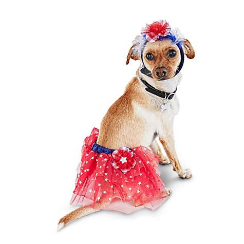Patriotic Pets Peppy Tutu and Headband Set for Dogs