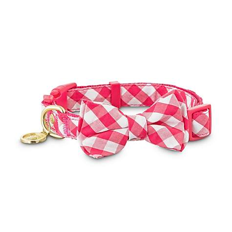 Bond & Co. Red Gingham Bow Tie Dog Collar