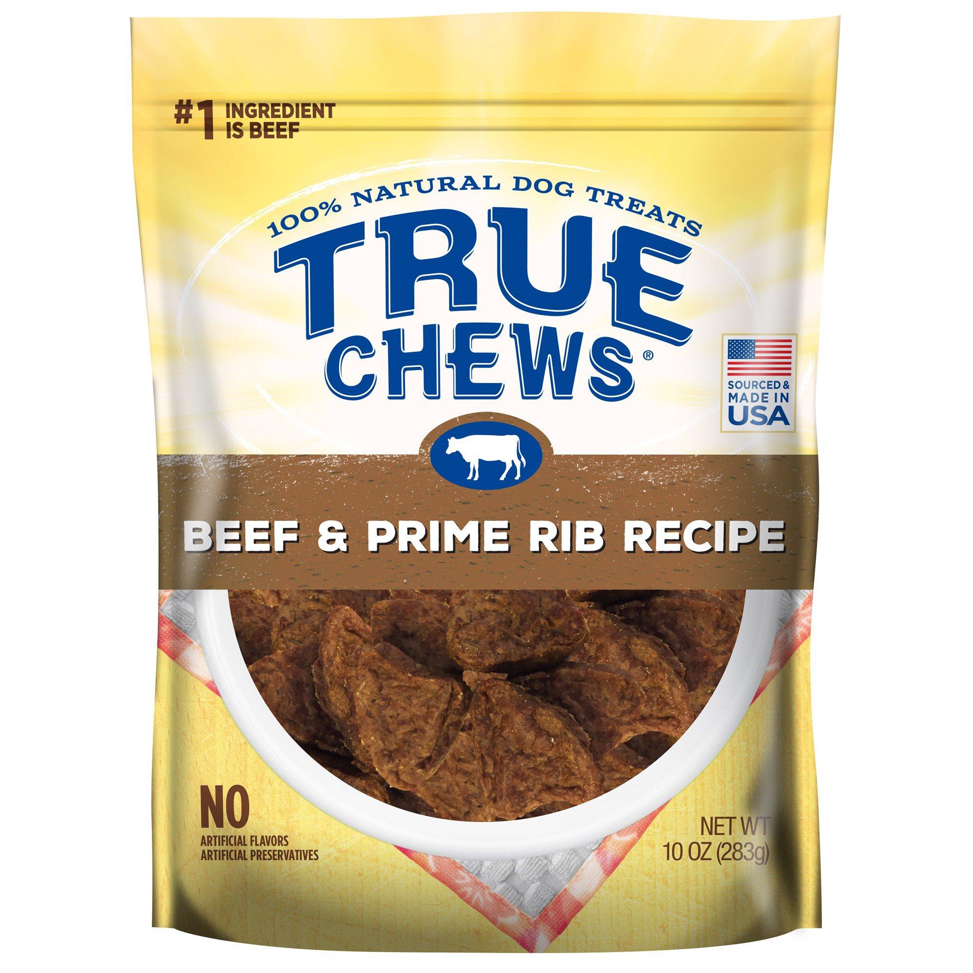 Image of True Chews Beef & Prime Rib Recipe Dog Treats, 10 oz.