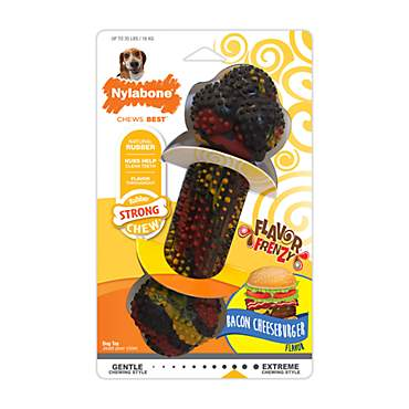 Nylabone Flavor Frenzy Rubber Chew, Bacon Cheeseburger