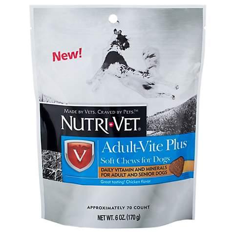 Nutri-Vet Adult-Vite Plus Soft Chews, 6oz