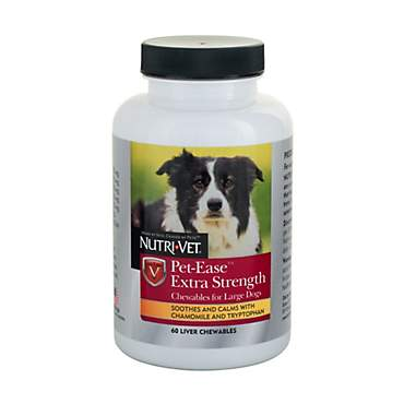 Nutri-Vet Pet Ease Extra Strength Calming Chewable Tabs