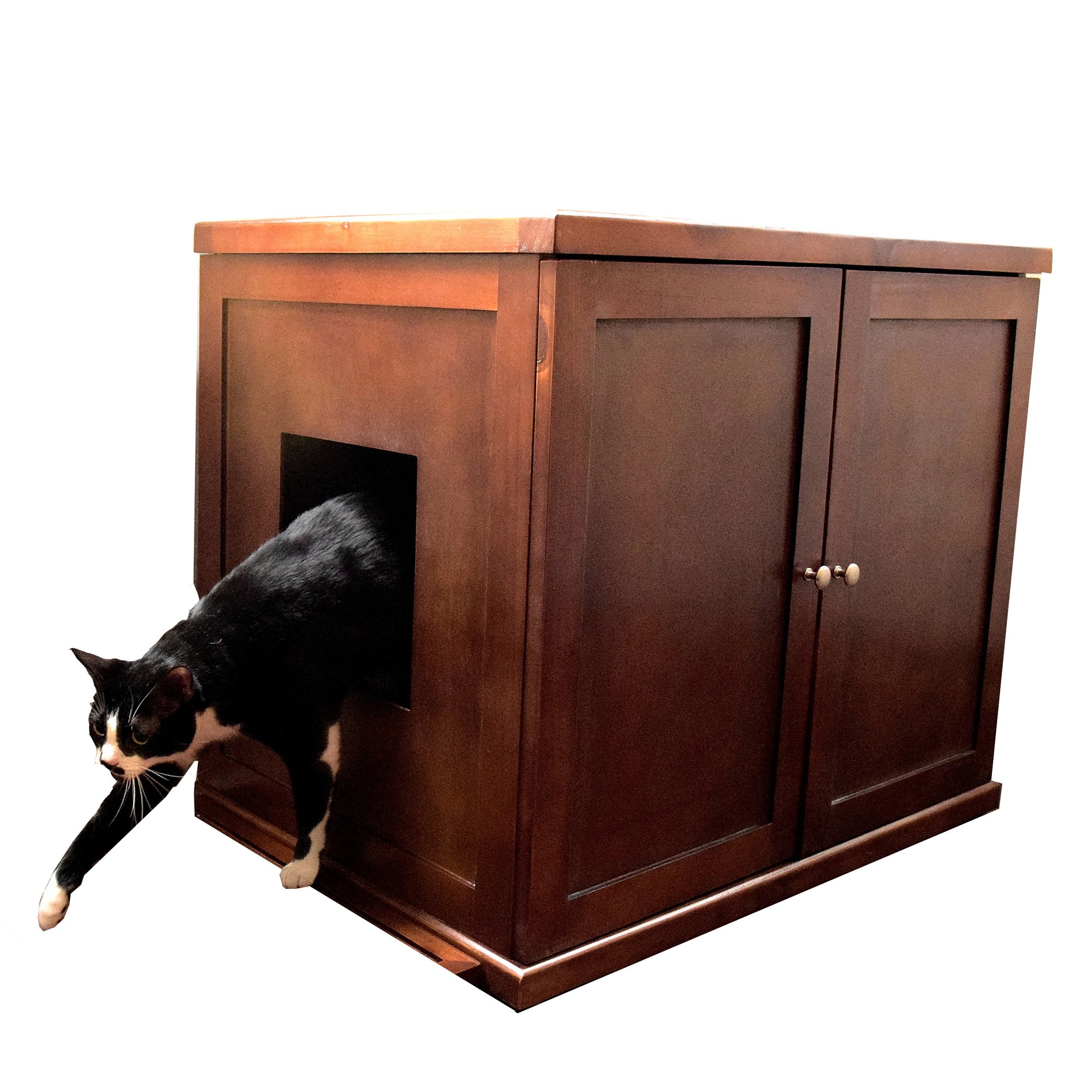 The Refined Feline Litter Box In Mahogany