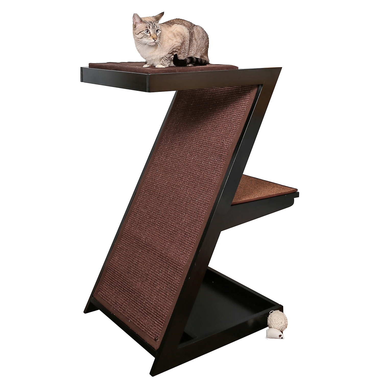 "The Refined Feline Zen Cat Scratcher In Espresso, 21.25"" L X 29"" W X 38.5"" H, X Large, Brown"