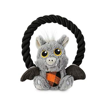 Bootique Gone Batty Plush Dog Toys with Rope Handle