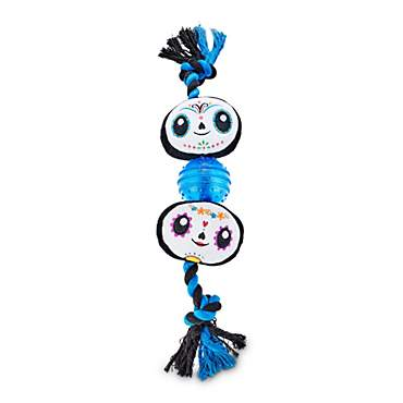 Bootique Canine Calavera Tugging Light-Up Dog Toys