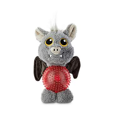 Bootique Gone Batty Plush Dog Toys with Light-Up Ball