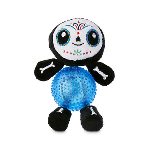 Bootique Canine Calavera Plush Dog Toys with Light-Up Ball