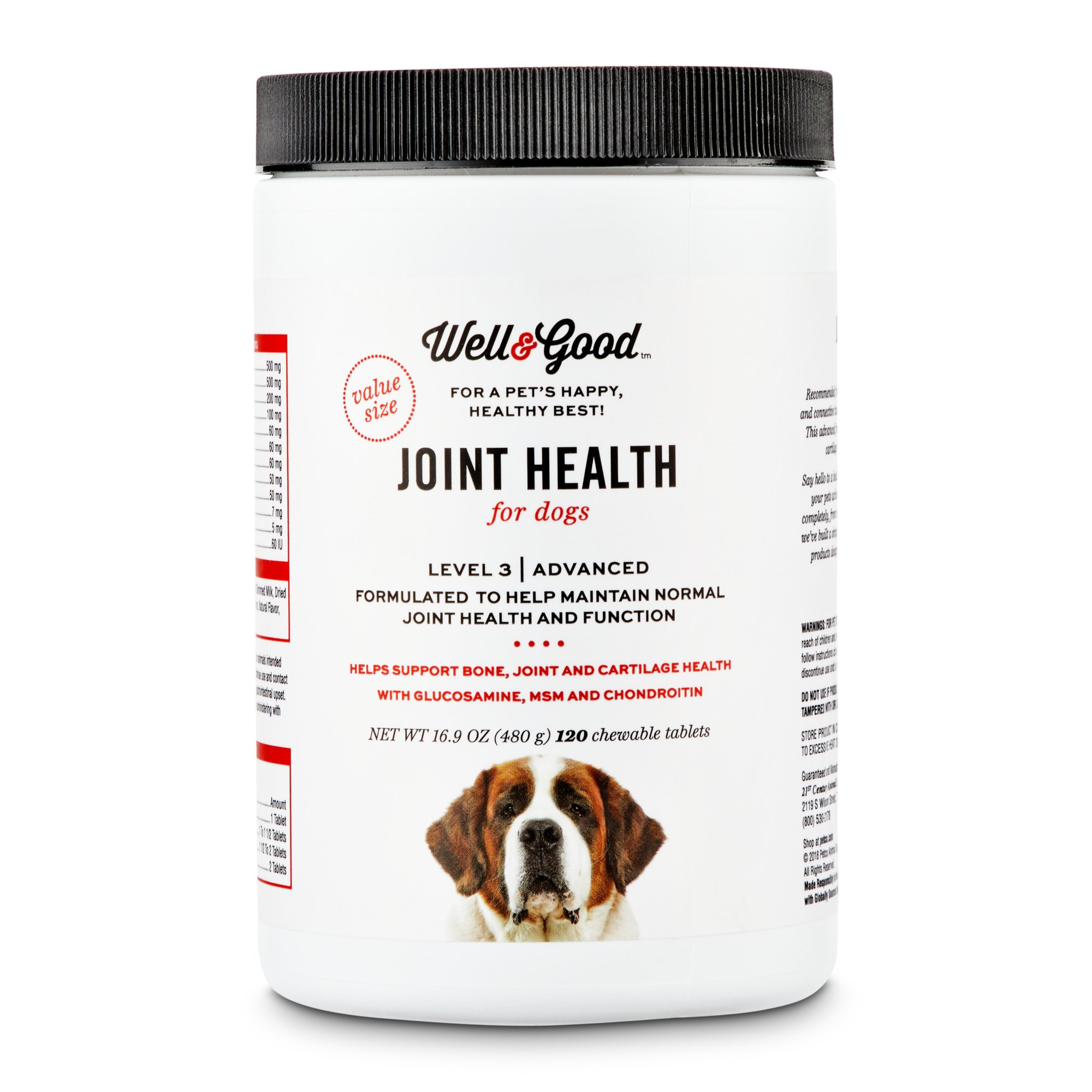 Well & Good Adult Level 3 Dog Joint Health Chewable Tablets   Petco