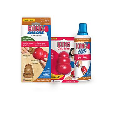 KONG Classic Peanut Butter Snacks & Easy Treat Bundle