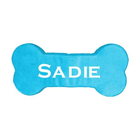 PrideBites Personalized Dog Bone Toy in Blue