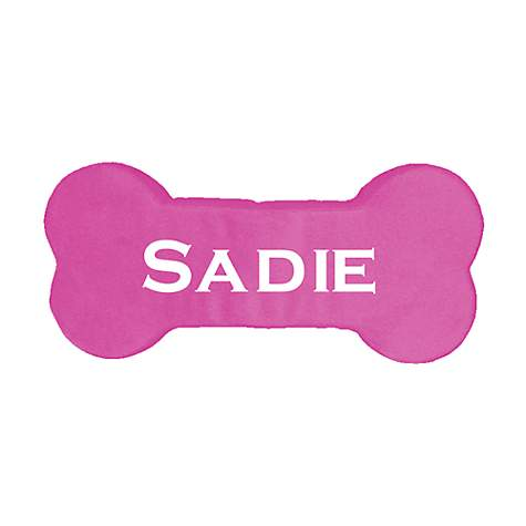 PrideBites Personalized Dog Bone Toy in Pink