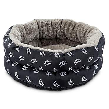 You & Me Skulls Small Animal Donut Bed
