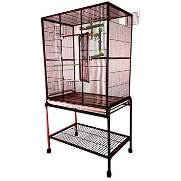 A&E Burgundy Large Flight Cage