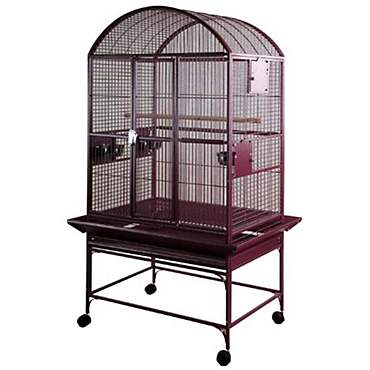 A&E Burgundy Large Dome Top Bird Cage