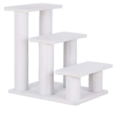 Trixie Pet Stairs With Plush Cover In White