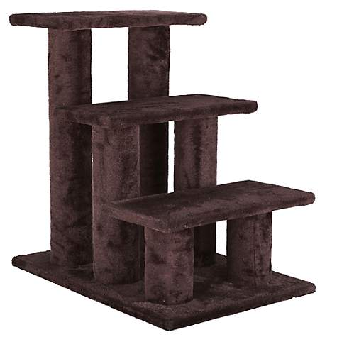 Trixie Pet Stairs With Plush Cover In Brown