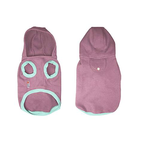 PrideBites Personalized Sleeveless Dog Hoodie in Pink