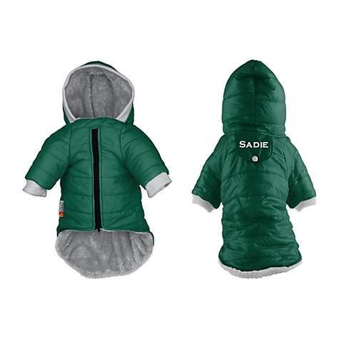PrideBites Personalized Dog Coat in Green
