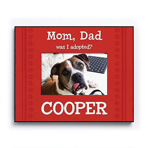 Custom Personalization Solutions Was I Adopted Personalized Dog Frame Red