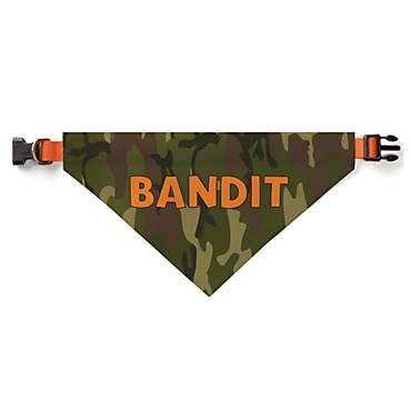 Custom Personalization Solutions Personalized Camo Dog Bandana Collar Cover Green